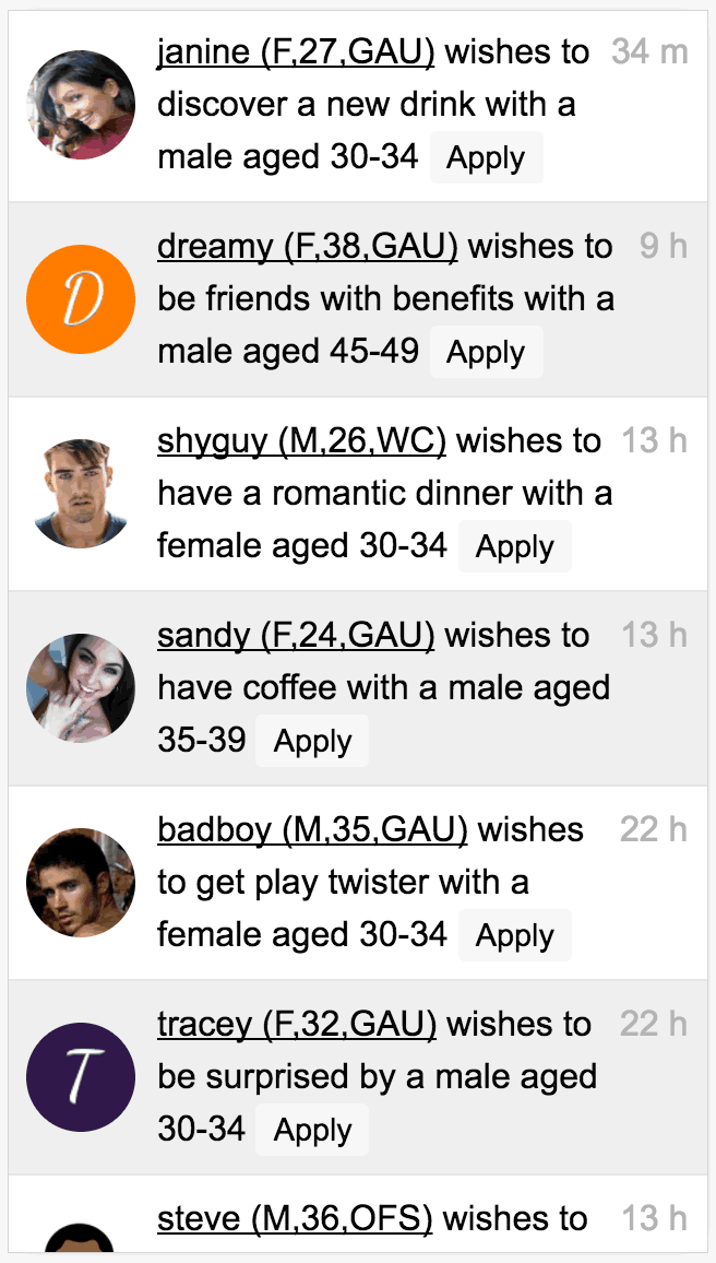 Add your wishes or apply to someone else     s